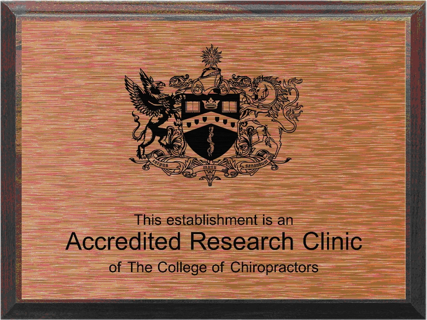 College of Chiropractors Accredited Research Clinic