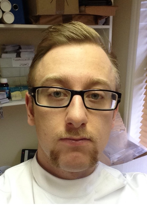 Scott Benham growing a moustache for Movember 2014.